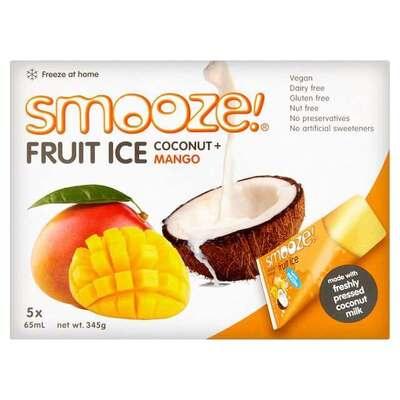 Smooze Fruit Ice Mango & Coconut Lollies