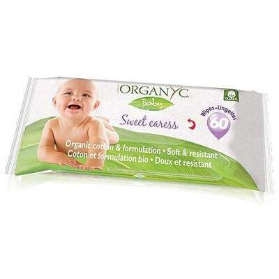 Organyc Sweet Caress Organic Cotton 60 Baby Wipes