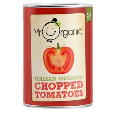 Mr Organic Chopped Tomatoes 400g