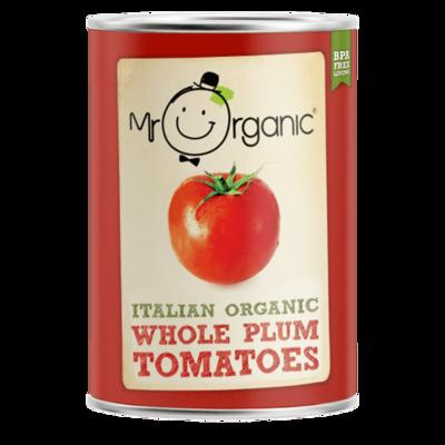 Mr Organic Whole Peeled Plum Tomatoes 400g