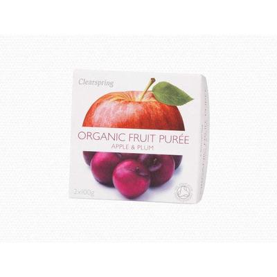 Clearspring Organic Fruit Purée Apple & Plum 2 x 100g