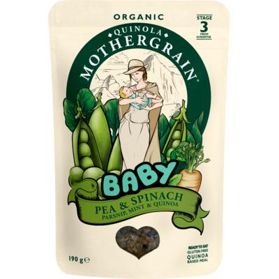 Quinola Mothergrain Organic Peas & Spinach Baby Food 190g