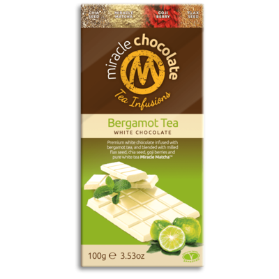 Miracle Matcha Bergamot Tea White Chocolate 100g