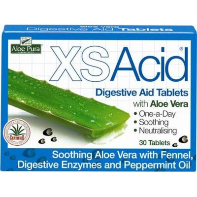 Aloe Pura Xs Acid Digestive Aid 30 Tablets