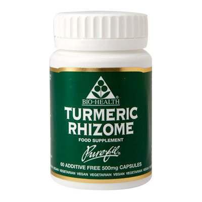 Bio Health Turmeric Rhizome 60 Capsules