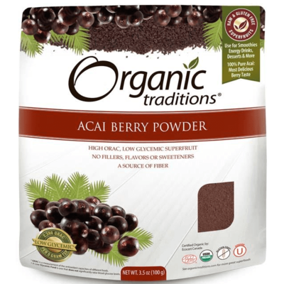 Organic Traditions Gluten Free Acai Berry Powder 100g
