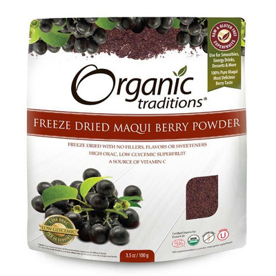 Organic Traditions Gluten Free Freeze Dried Maqui Berry Powder 100g
