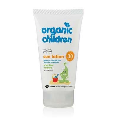 Organic Children Sun Lotion SPF30 Scent Free 150ml