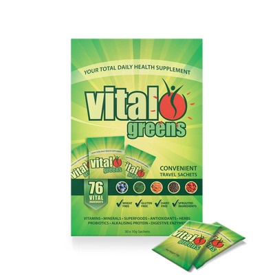 Vital Greens Powder Sachet Travel Box