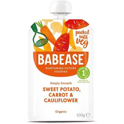 Babease Organic Sweet Potato, Carrot & Cauliflower 100g - Stage 1 - Box of 8