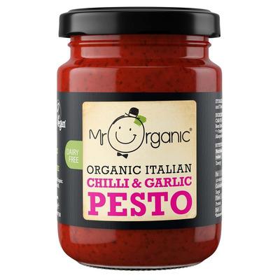 Mr Organic Chilli & Garlic Pesto 130g