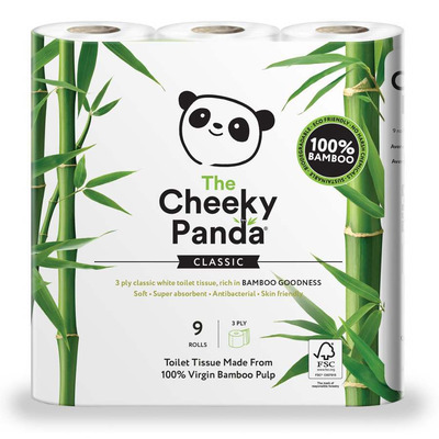 The Cheeky Panda Bamboo Toilet Paper - Pack of 9