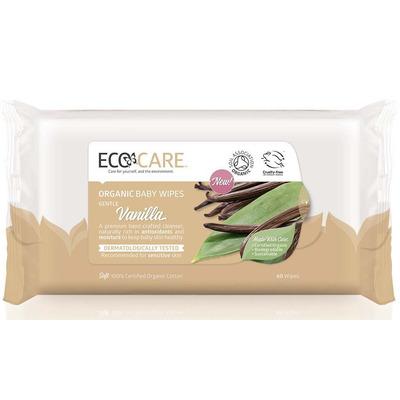 Ecocare Organic Vanilla Baby Wipes
