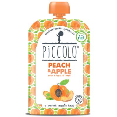 Piccolo Peach & Apple with Basil 100g