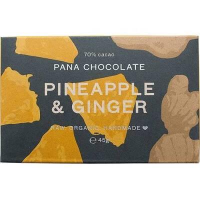 Pana Chocolate Pineapple & Ginger Chocolate 45g