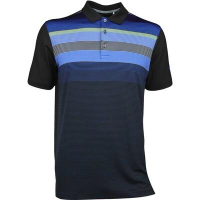 Puma Golf Shirt GT Road Map Black Lapis Blue AW17
