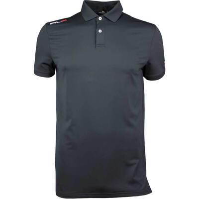RLX Golf Shirt Solid Airflow Polo Black AW18