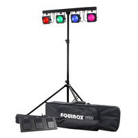 RGB COB Par Bar Lighting Set with Stand and Foot Controller