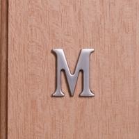 Self Adhesive 40mm Aluminium Letter M