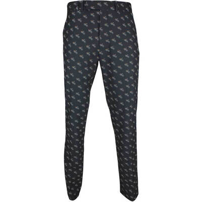 RLX Golf Trousers Printed Athletic Pant Vintage Moto Black SS18