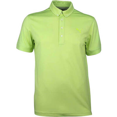 Puma Golf Shirt Oxford Heather Acid Lime SS18
