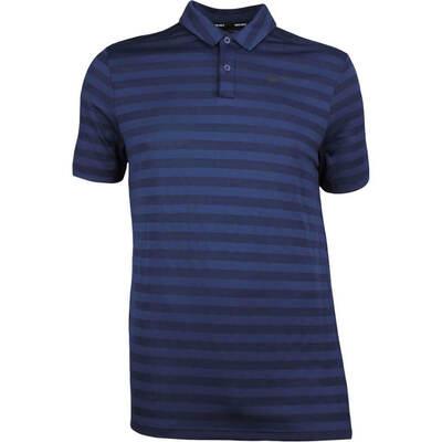 Nike Golf Shirt NK Dry Stripe College Navy SS18
