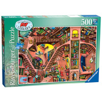 Image of Ravensburger Colin Thompson - The Ludicrous Library, 500pc Jigsaw Puzzle