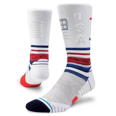 Stance Golf Socks USA Greatest Crew White 2018