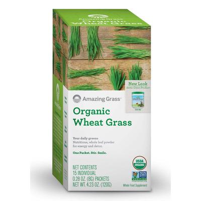 Amazing Grass Organic Wheat Grass 15 Sachets
