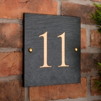Rustic Square House Number personalised with your number