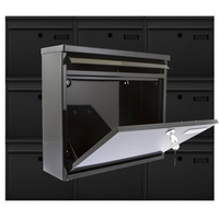 Multiple Ouse Black Mailboxes for Communal Areas