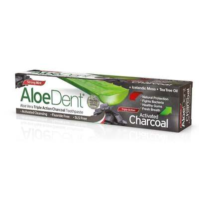 AloeDent Triple Action Charcoal Toothpaste 100ml