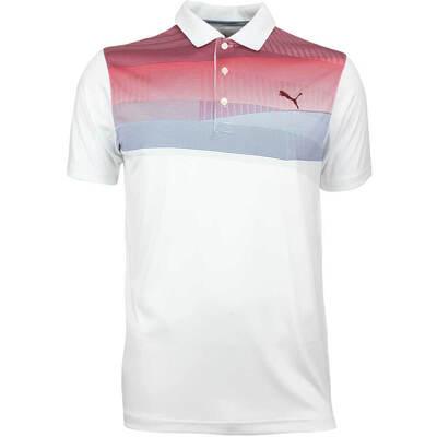 Puma Golf Shirt Ultralite Refraction Pomegranate AW18