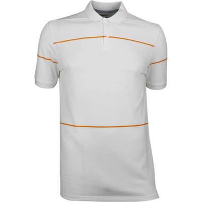 Nike Golf Shirt NK Dry Pique Open Tartan White AW18