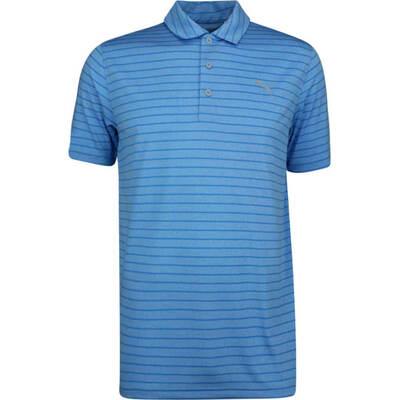 PUMA Golf Shirt Rotation Stripe Azure Blue SS19