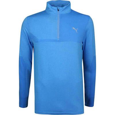 PUMA Golf Pullover Evoknit QZ Azure Blue SS19