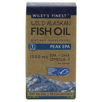 Wiley's Finest Peak EPA Fish Oil 30 Capsules