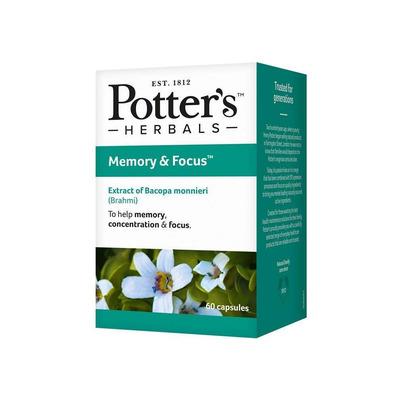 Potter's Herbals Memory & Focus 60 Capsules