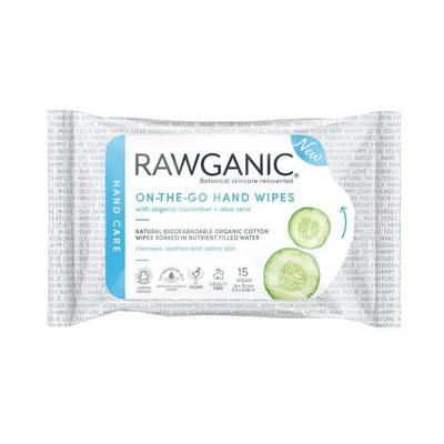 Rawganic Pure On-The-Go Hand Wipes 20 Pack