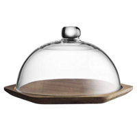 Typhoon Modern Kitchen Glass Dome Cheese Board