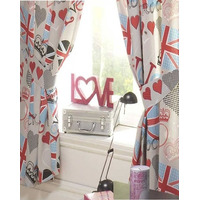 Princess Love Union Jack Curtains 72s