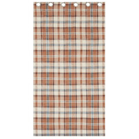 Catherine Lansfield Heritage Kelso Check Eyelet Curtains 66 x 72 Inch - Spice