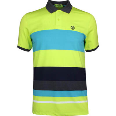 GFORE Golf Shirt Variegated Stripe Polo Lime Punch SS19