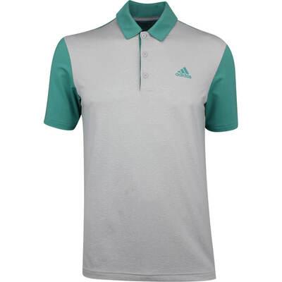 Adidas Golf Shirt Ultimate365 Camo Embossed True Green SS19