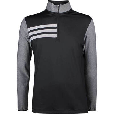 Adidas Golf Pullover 3 Stripes Competition QZ Black SS19
