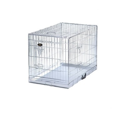 Dog Cage / Crate - Silver