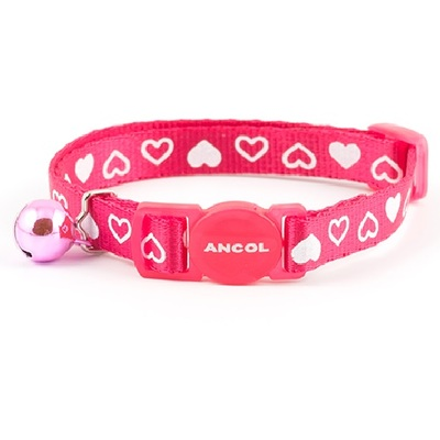Ancol Silky Nylon Heart Cat Collar