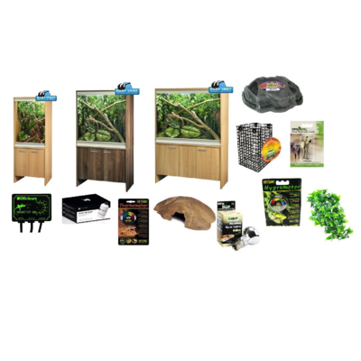 Viv-Exotic Viva+ Arboreal Vivarium Small Medium Large - Full Set Up