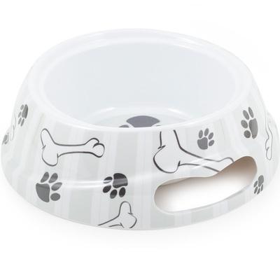 Ancol Grey Stripe Paw & Bone Bowls