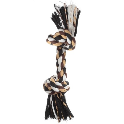 Lazy Bones Tiger Tough 2 Knot Cotton Rope Dog Toy